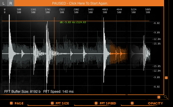Black Sonar frequency analyzer plugin by Iridium Iris