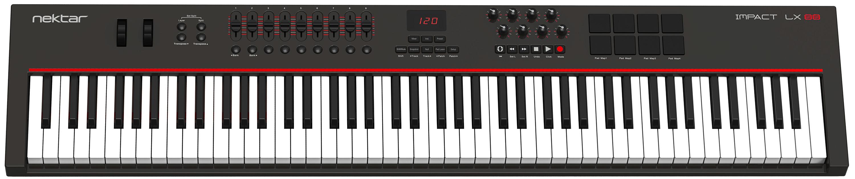 Nektar ships Impact LX 88 controller keyboard