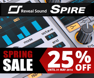 25% off Spire synthesizer at Reveal Sound