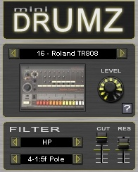mini drumz by dsk music a freeware drum sample rompler for windows pc. Black Bedroom Furniture Sets. Home Design Ideas