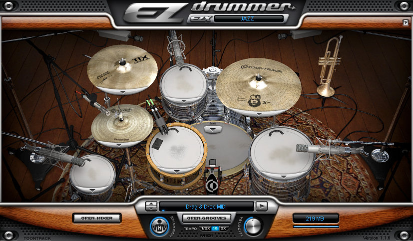 Review of Toontrack Jazz EZX, an expansion pack for EZdrummer