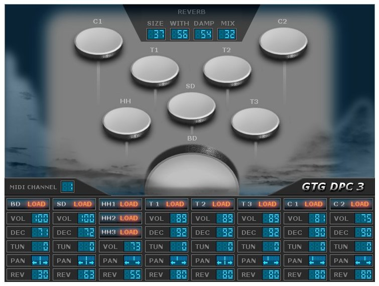 gtg dpc 3 by gtg synths a freeware drum sampler plugin for windows pc. Black Bedroom Furniture Sets. Home Design Ideas