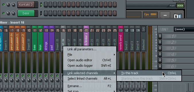 Fl studio select multiple mixer channels guide