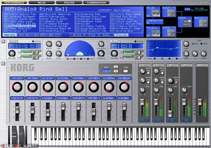 Free patches and sound banks for Korg Legacy Cell