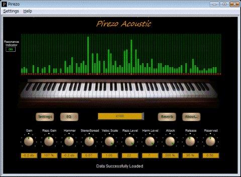 NaokiT Pirezo Acoustic, a resonance piano tone generator for