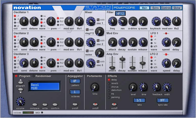 Novation virtual bassstation |.