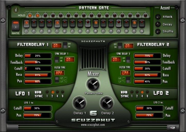 Scuzzphut6 v2 0, a free VST effect plugin featuring a