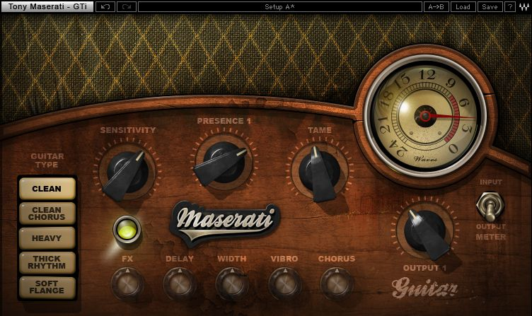 Waves Tony Maserati Collection, a collection of 6 plug-ins in ...