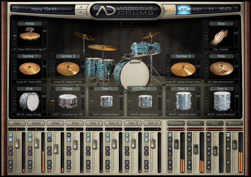 xln audio addictive drums 1 1 1 adpak retro downloads en taringa. Black Bedroom Furniture Sets. Home Design Ideas