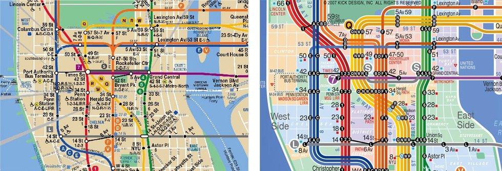 Chelsea Subway Map.Kick Map Comparison A Better Nyc Subway Map