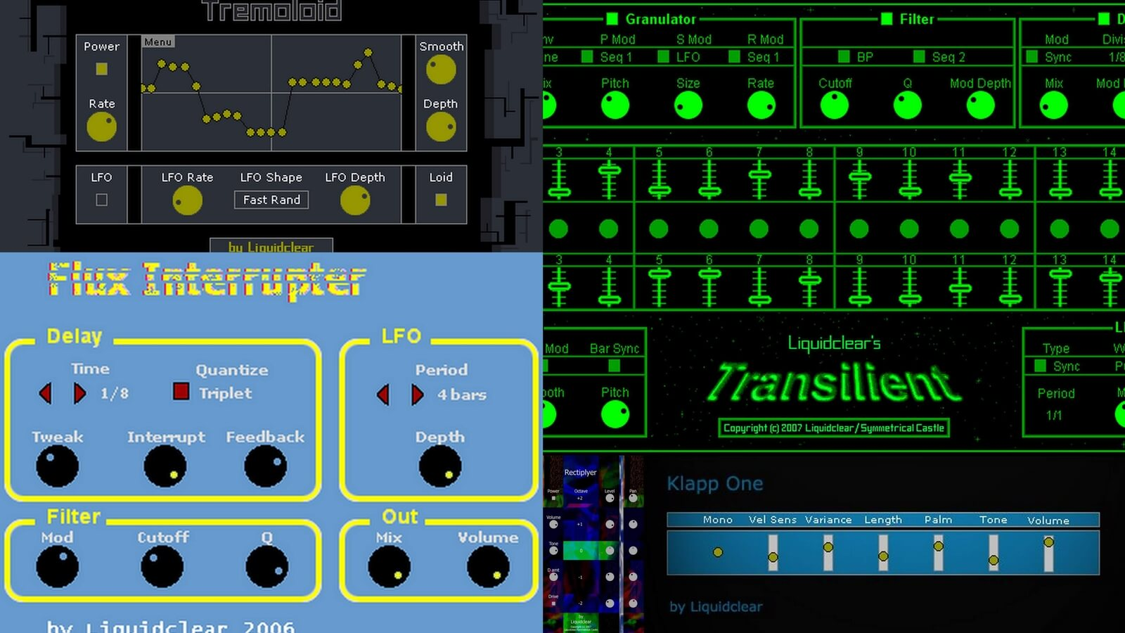 Liquidclear VST Plug-ins, freeware instrument and effect