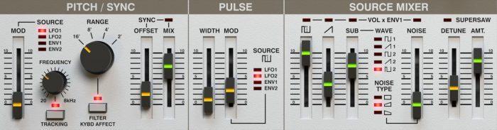 d16 LuSH-101 oscillator section