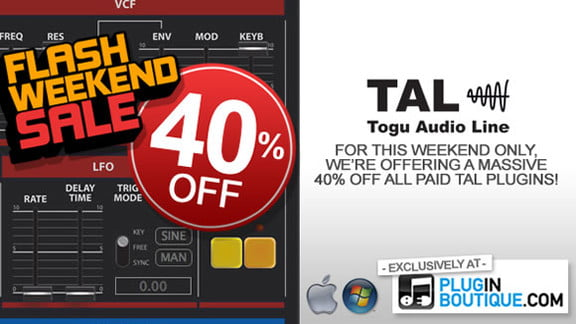 40% off TAL-BassLine-101 & TAL-U-NO-LX at Plugin Boutique