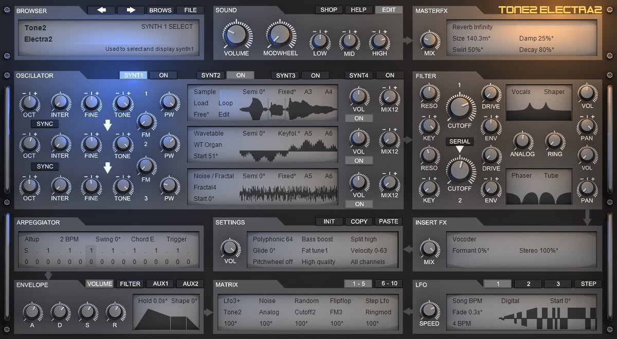 Review of Tone2 Electra2 synthesizer plugin