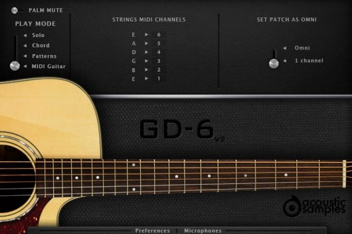 Acoustic Samples GD-6 Acoustic Guitar
