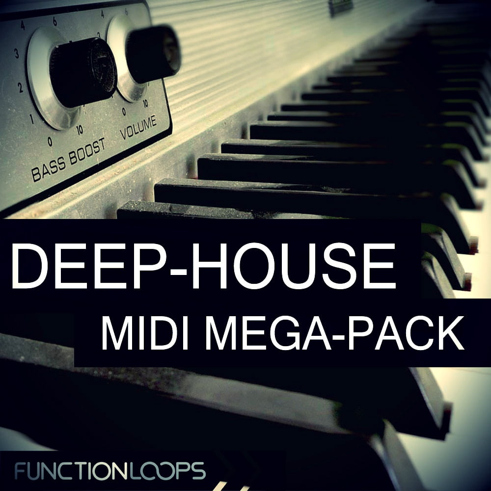Deep house midi megapack by function loops released for Samplephonics classic deep house