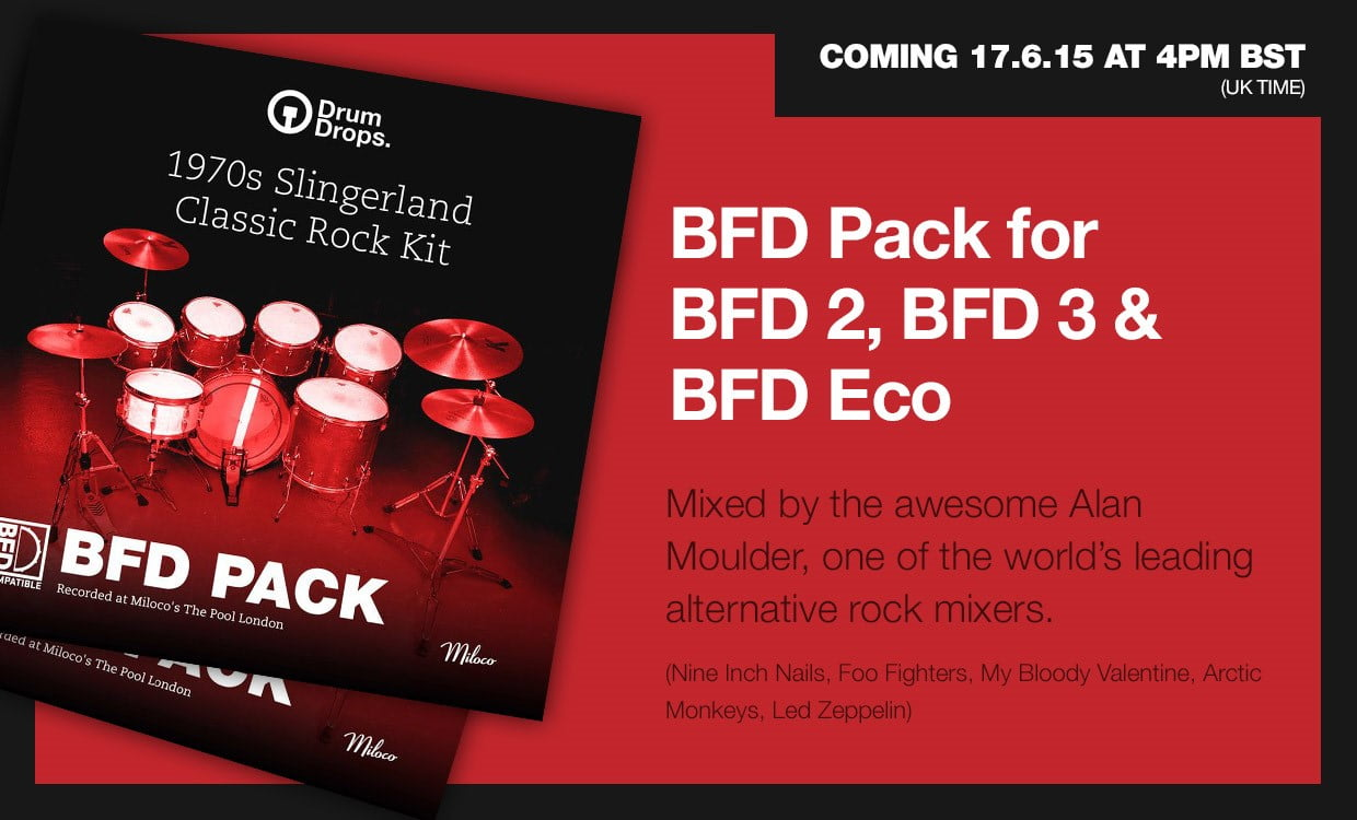 4Pm Bst drumdrops 1970s slingerland classic rock kit bfd pack