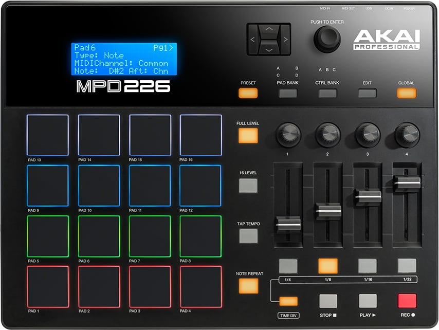 Akai Professional new MPD Series pad controllers