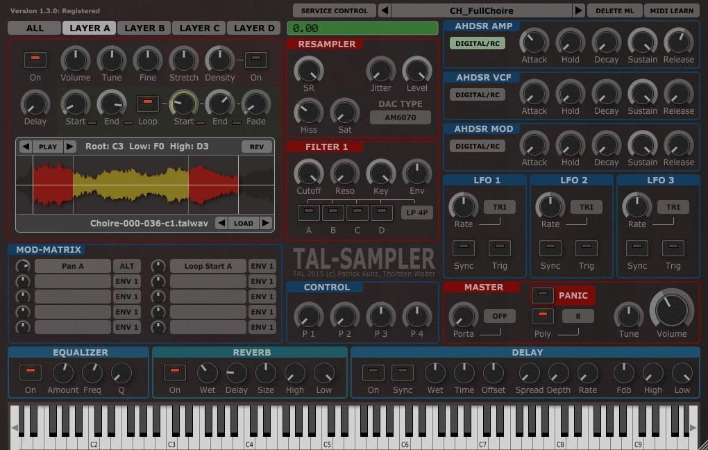 Togu Audio Line TAL-Sampler plugin updated to v1 3 9