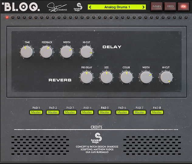 Sample Magic Bloq drums fx
