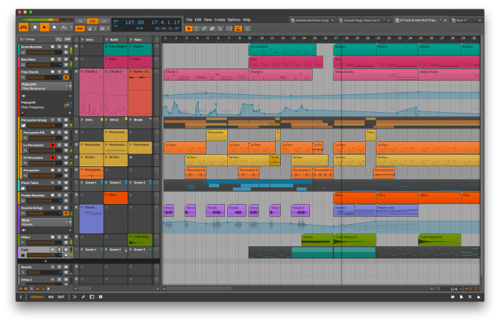 Bitwig Studio 1.2 Group Tracks