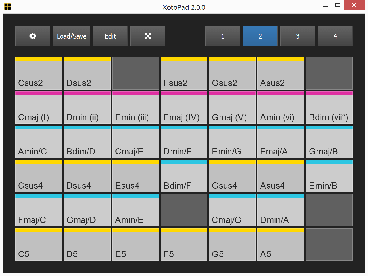 XotoPad 2 MIDI controller software by Feelyoursound