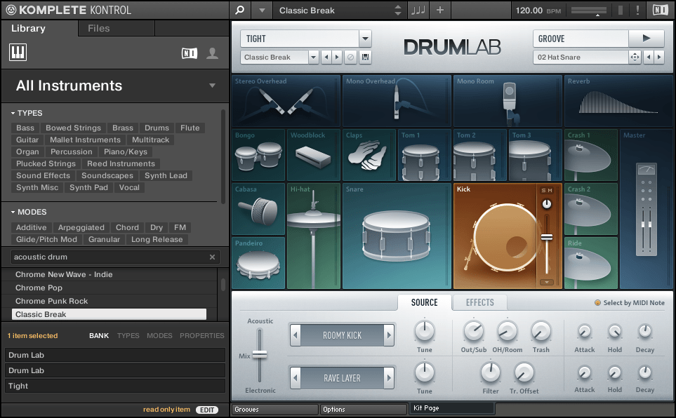 Komplete Kontrol with Drum Lab