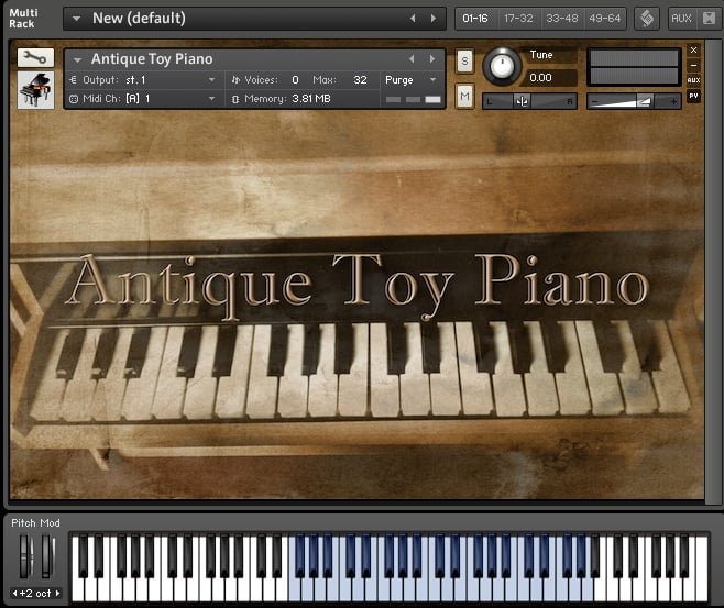 Mister Sandman Antique Toy Piano