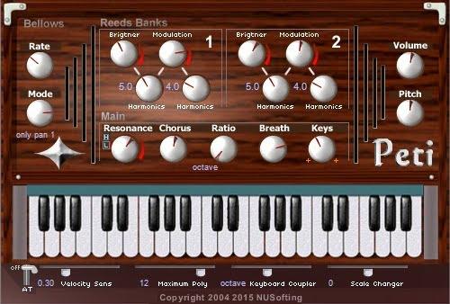 Peti harmonium/accordion plugin udated to v2 1
