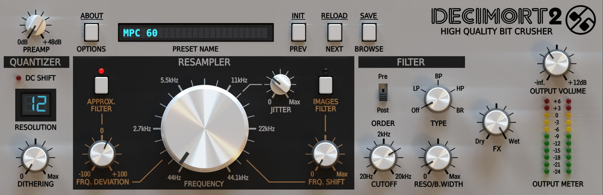 D16 Group Decimort 2 bit crusher plugin coming soon