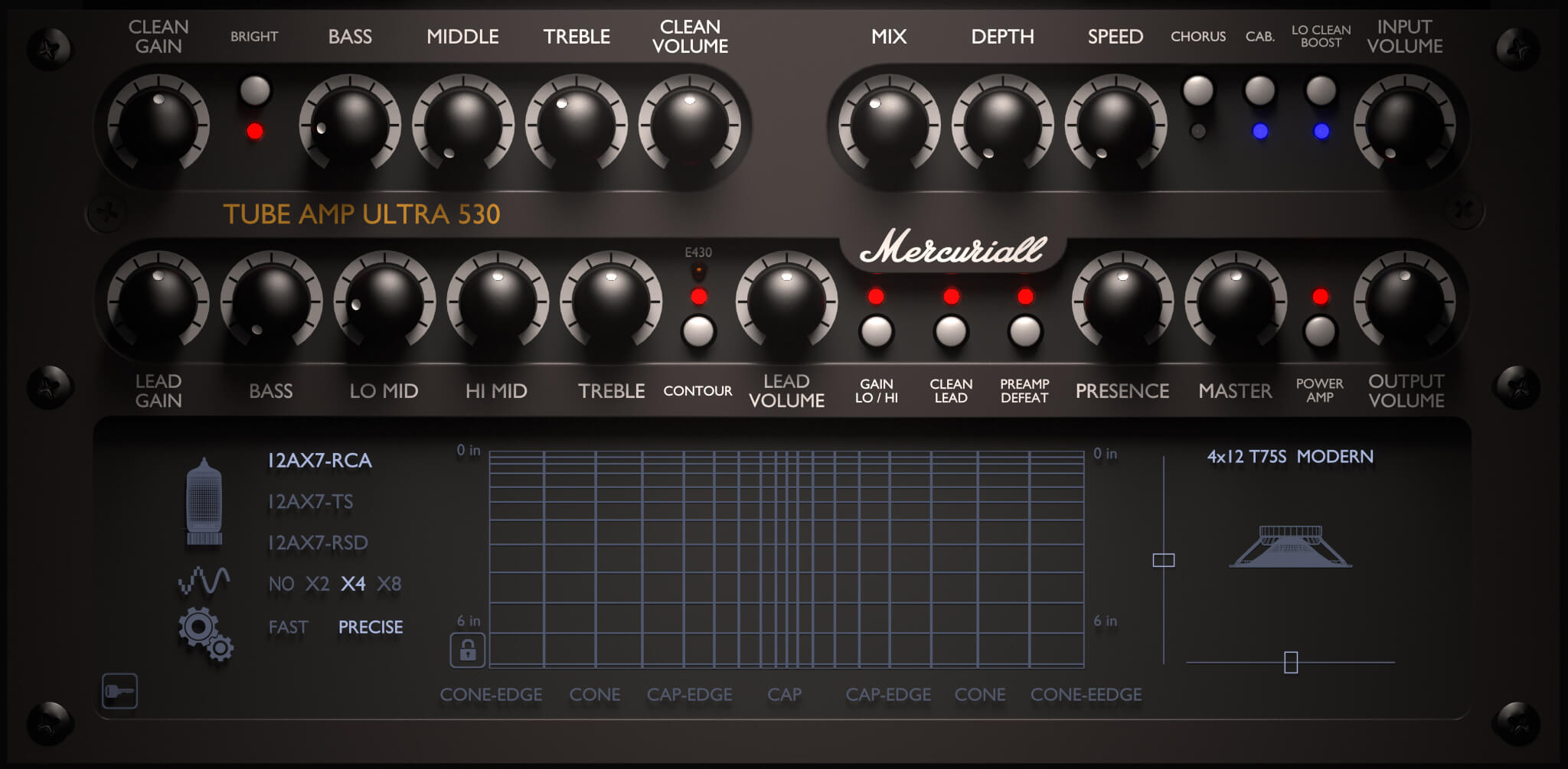 Mercuriall Tube Amp Ultra U530 plugin updated