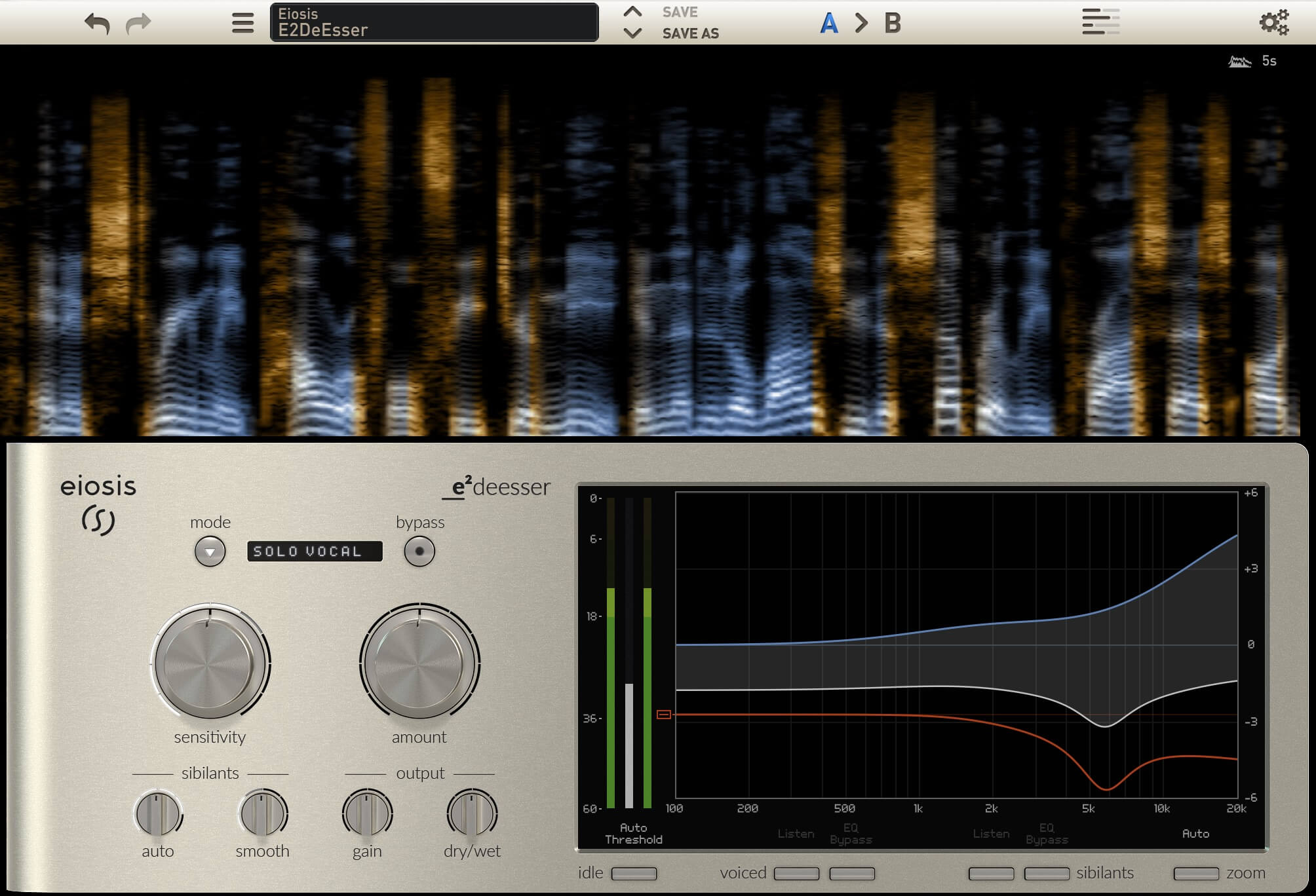 Eiosis E²Deesser plugin & Air and Earth modules for VMR
