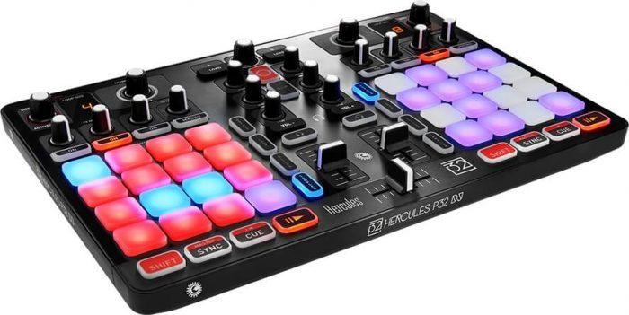 Hercules P32 DJ angle