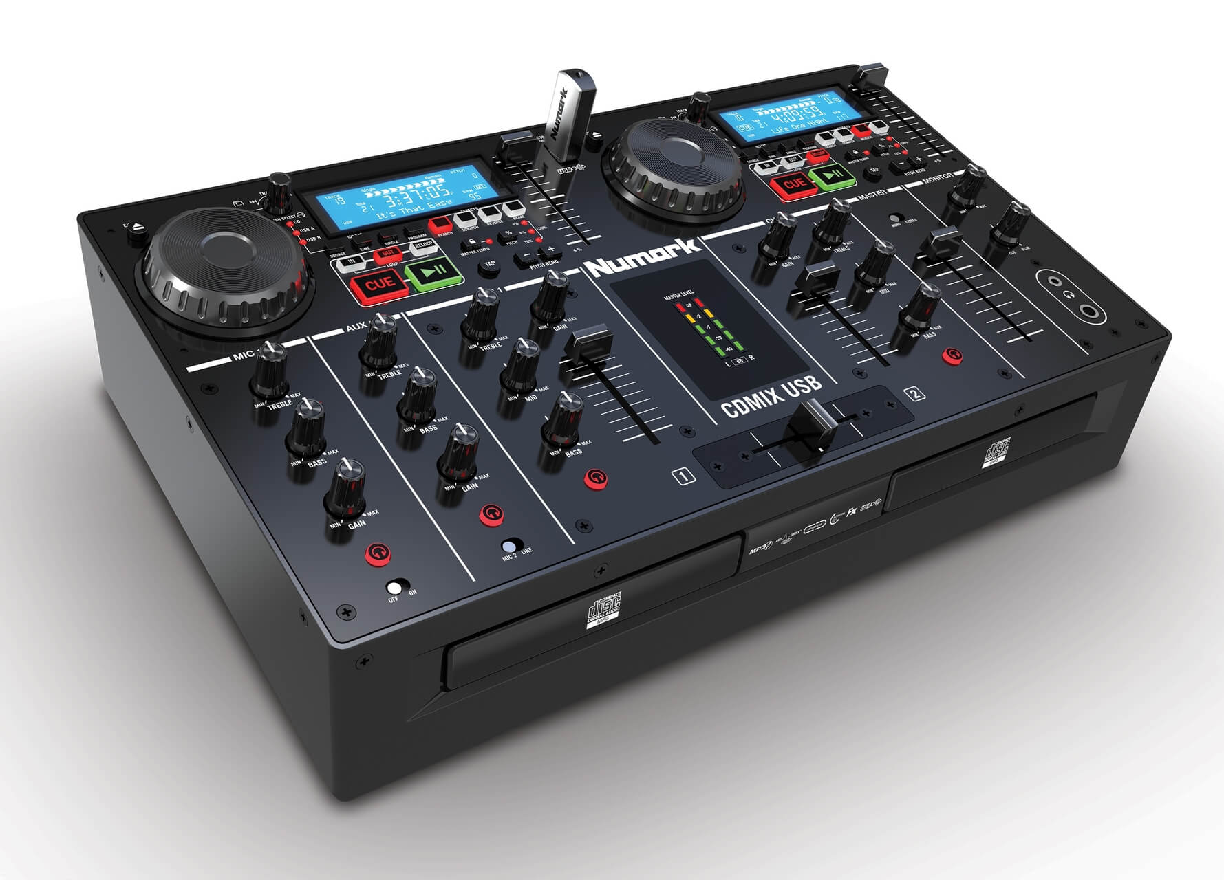Numark CD MIX USB, Dashboard, Party Mix, Red Wave Carbon
