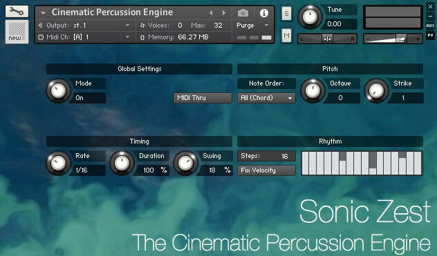 Sonic Zest The Cinematic Percussion Engine