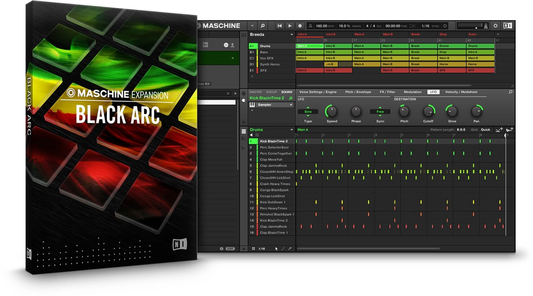 Native Instruments Black Arc Maschine expansion pack