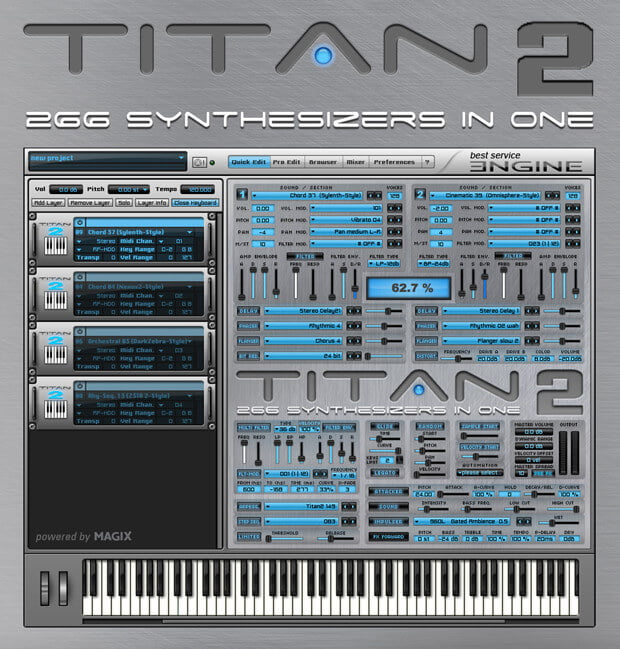 Best Service Titan 2 synth 50% off at VST Buzz