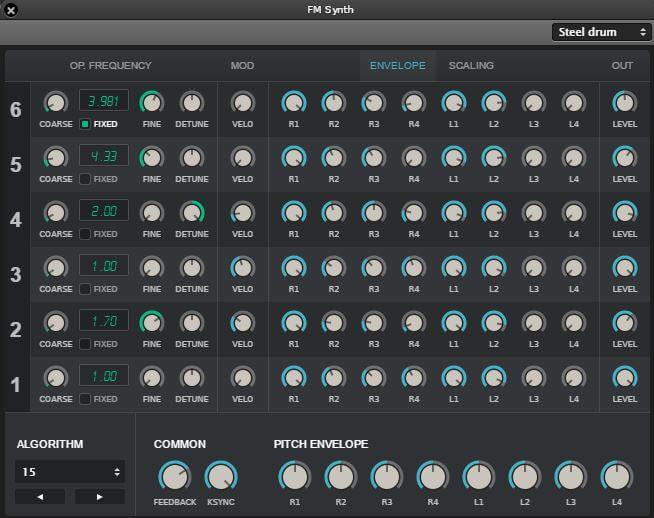 Soundation Studio Chrome FM Synth