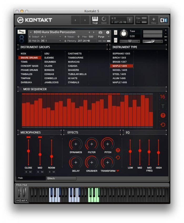 8Dio Aura Studio Percussion