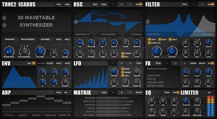 Tone2 Icarus screenshot main