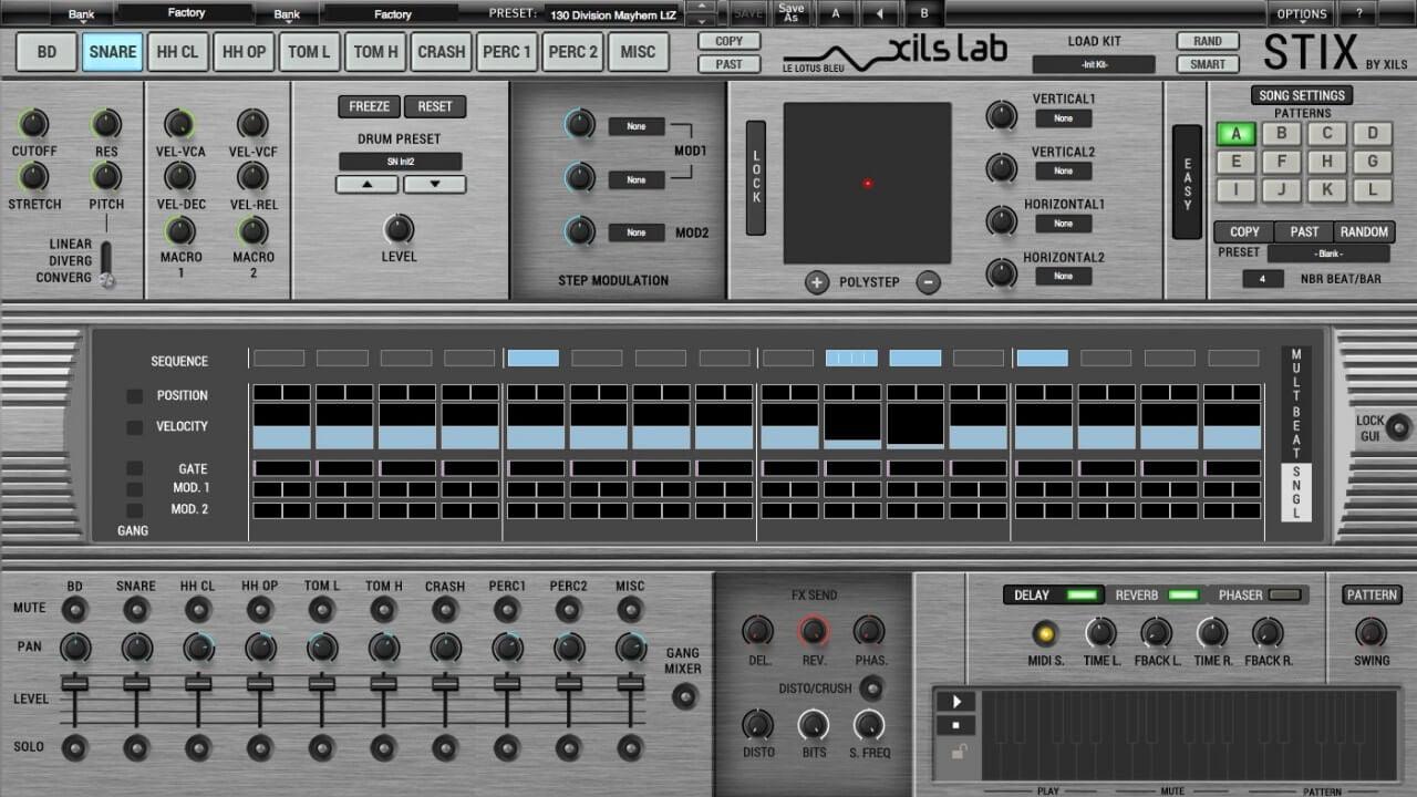 xils lab stix drum machine plugin released. Black Bedroom Furniture Sets. Home Design Ideas