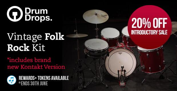 PIB DrumDrops Vintage Folk Rock Kit sale
