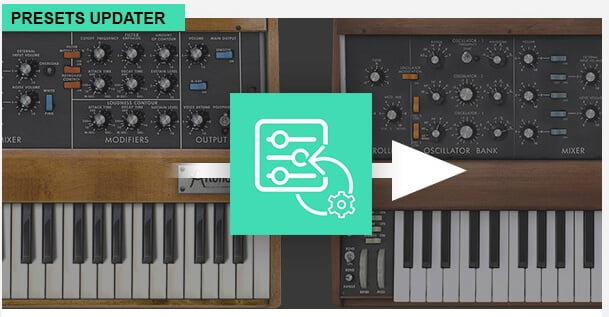 V Collection presets converter available from Arturia