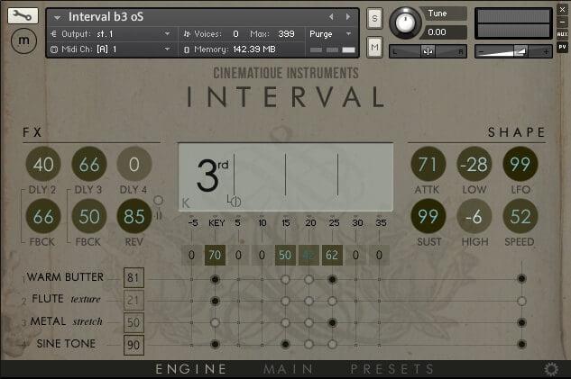 Cinematique Instruments Interval engine