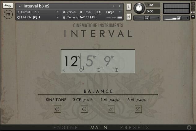 Cinematique Instruments Interval