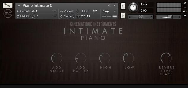 Cinematique Instruments Intimate Piano