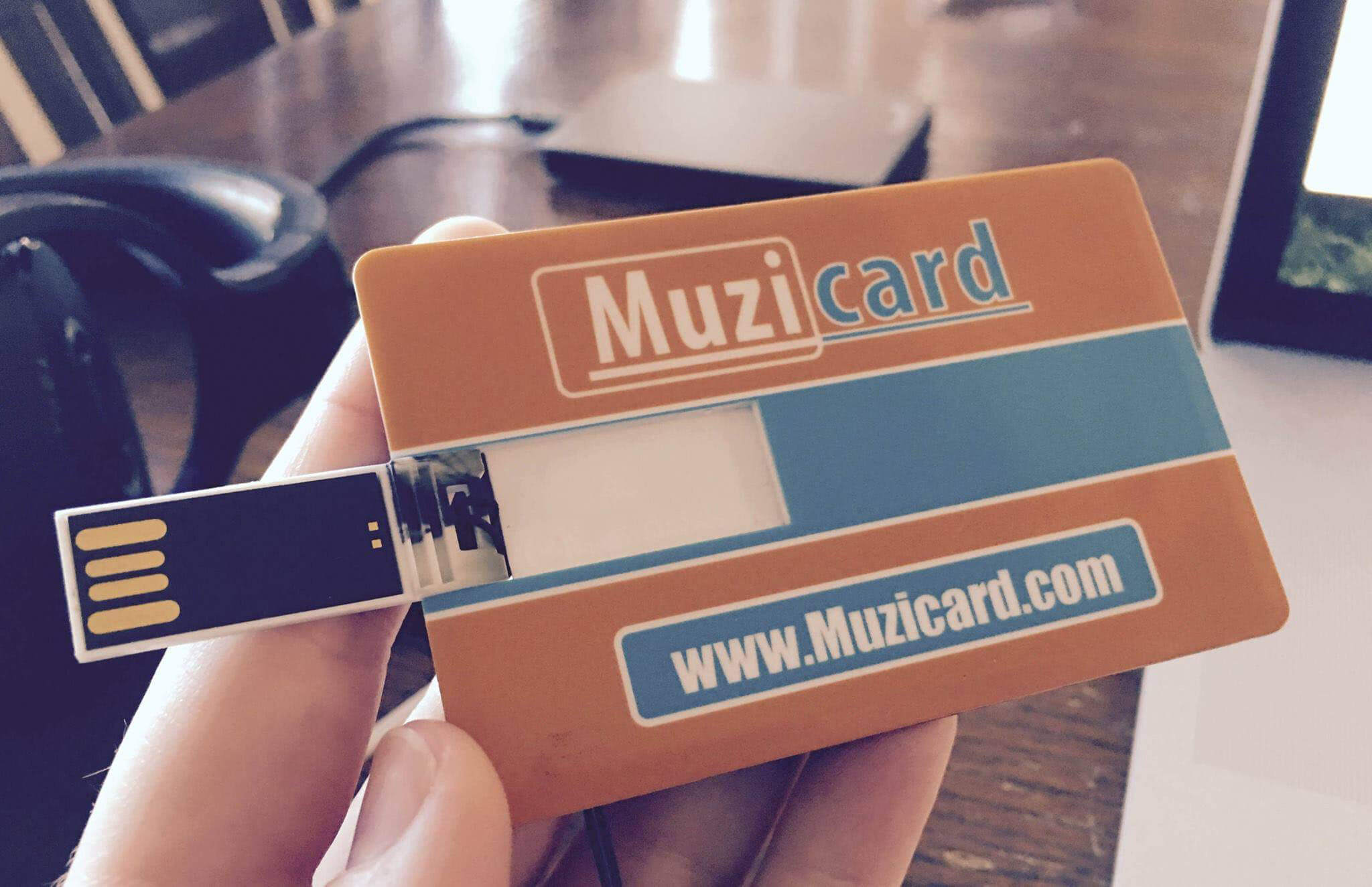 photo about Printable Usb Drive referred to as Muzicard printable credit score-card-sized USB determination