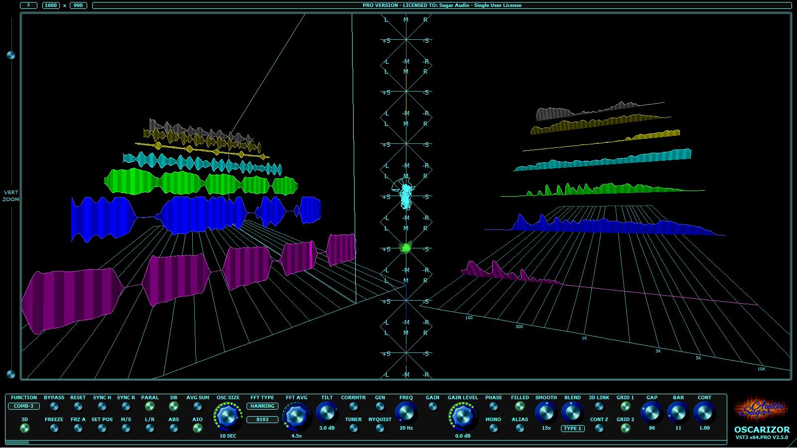 Sugar Audio Oscarizer 2.5  comb3dparallel