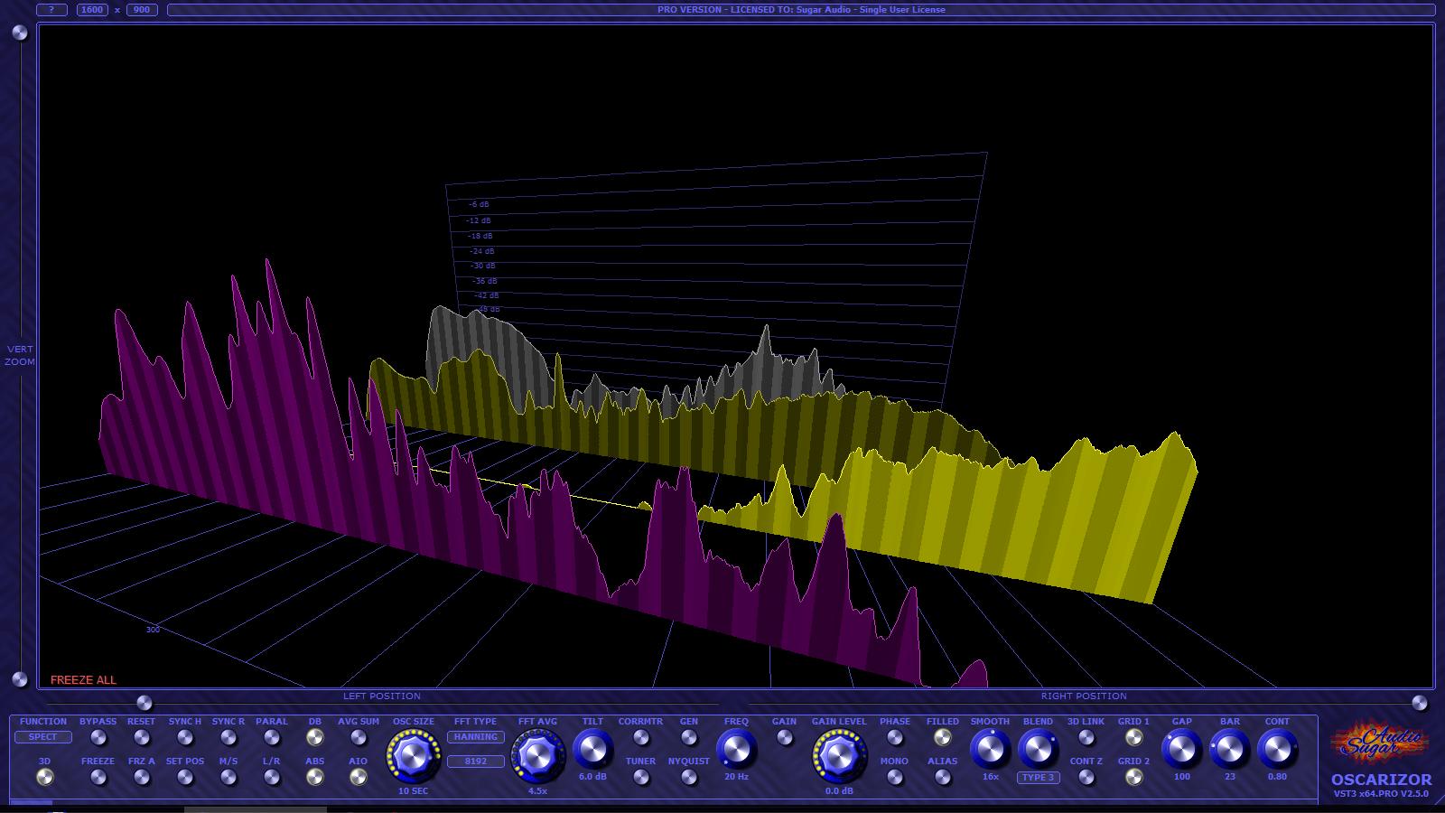 Sugar Audio Oscarizer 2.5 spec3d3