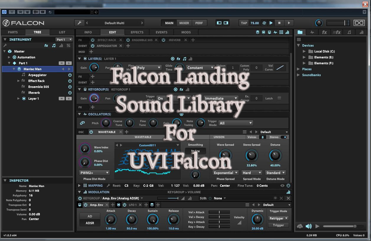 Wagsrfm UVI Falcon Landing on sale